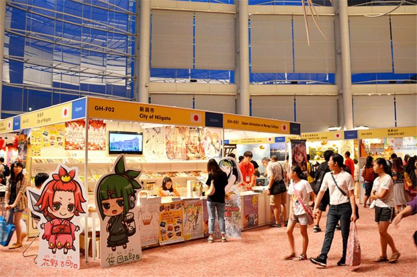 現場主要是一些日本縣市的介紹攤位,是有些書展出可是沒有很豐富。